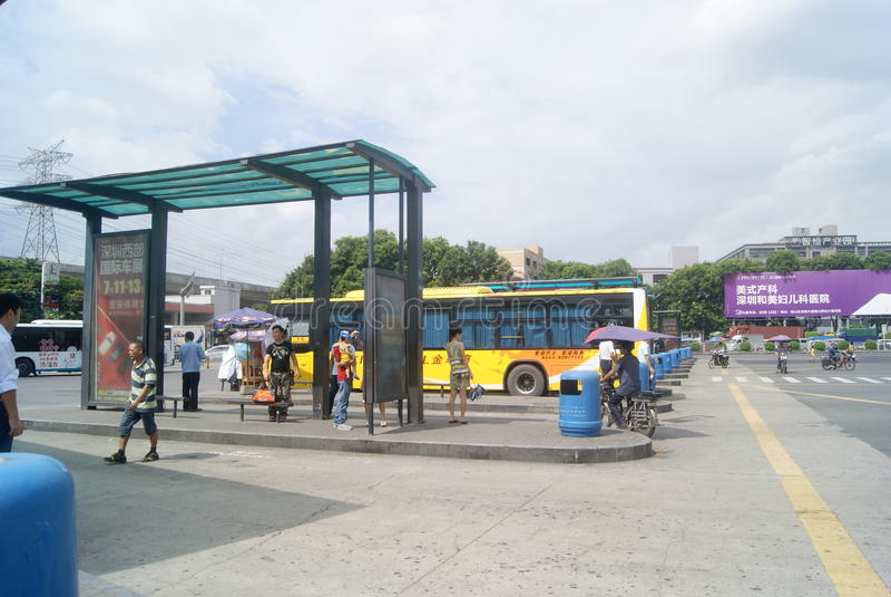 Shenzhen Kina: Station för överföring för Nantou testpunkt auto royaltyfri foto