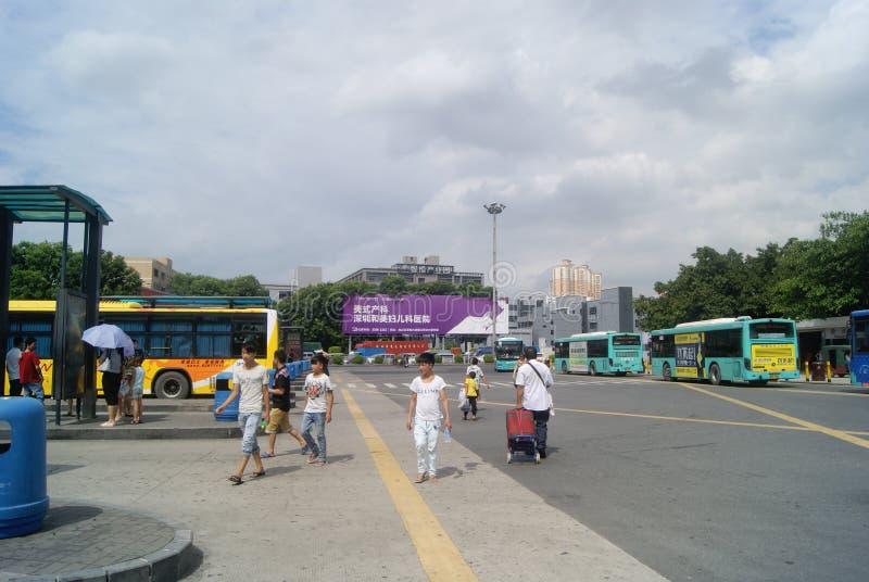 Shenzhen Kina: Station för överföring för Nantou testpunkt auto royaltyfri bild
