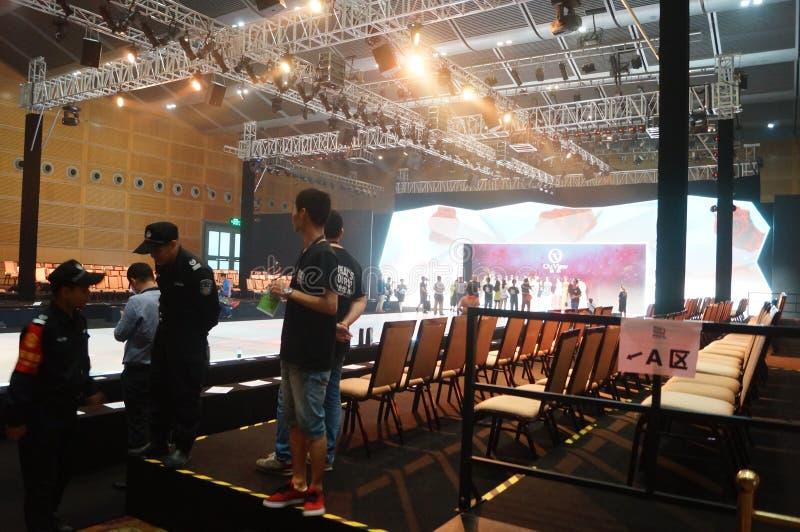 Shenzhen konwencja i Powystawowy centrum, wzorcowa przedstawienie scena fotografia royalty free