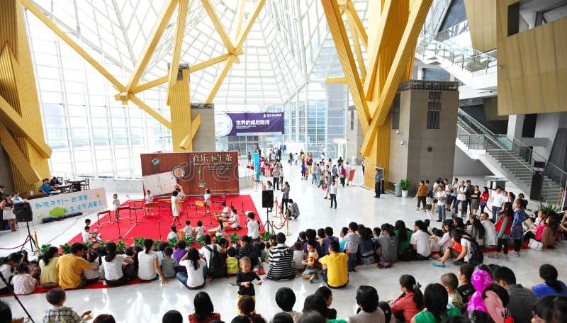 Shenzhen-Konzertsaalerscheinen stockfotografie