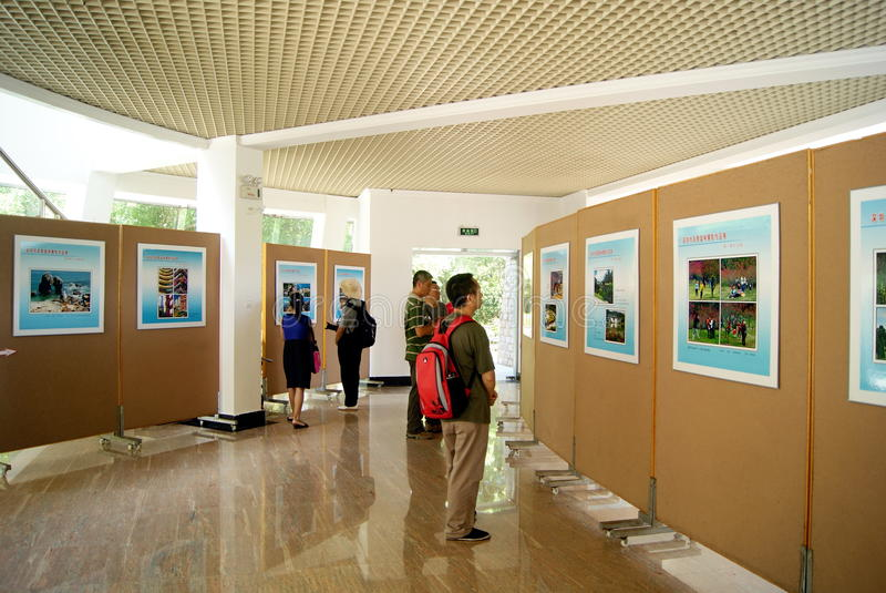 Shenzhen landscape photography exhibition. On August 20, 2011, China's shenzhen landscape photography exhibition held, attracted a lot of people watched stock photo