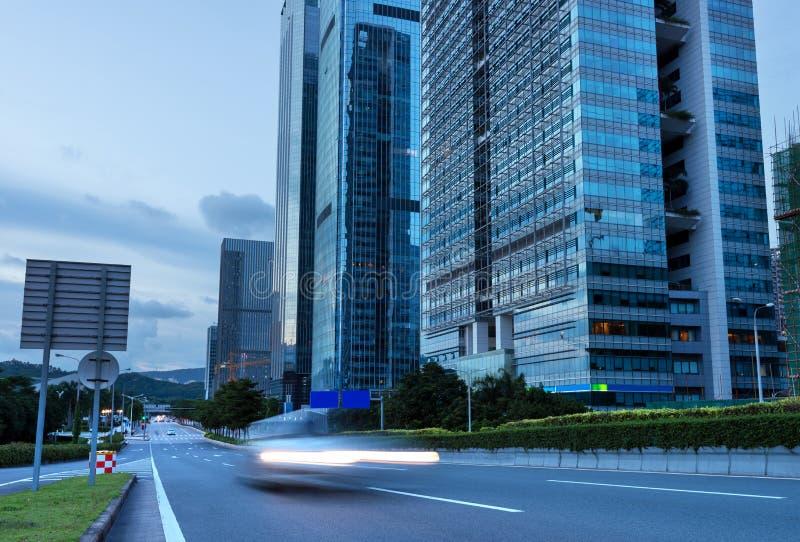 Shenzhen natt arkivfoto
