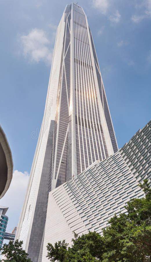 Shenzhen Ping An International Finance Center stockfotos