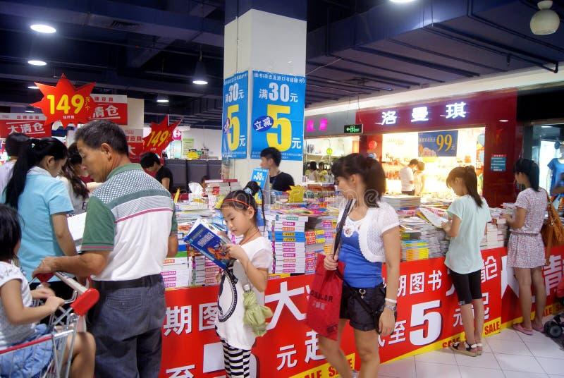 Shenzhen porcelana: książkowe dyskontowe sprzedaże zdjęcia royalty free