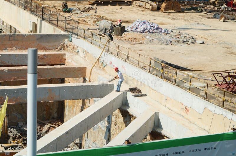 Shenzhen porslin: gångtunnelkonstruktionsplats arkivfoton