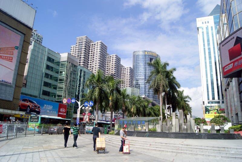 Shenzhen porslin: norr reklamfilmgata för qiang royaltyfria bilder