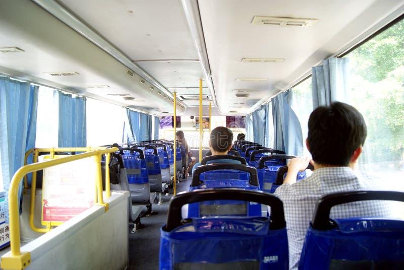 Shenzhen-Porzellan: nehmen Sie den Bus lizenzfreies stockfoto