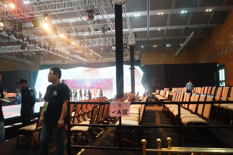 Shenzhen regel och utställningmitt, modellshowplats royaltyfria foton