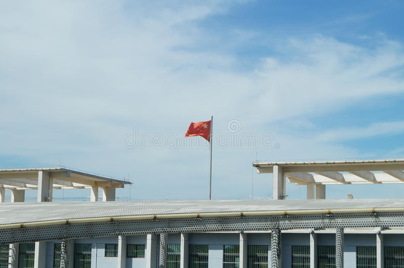 Shenzhen Special Economic Zone New City checkpoint. Here are abandoned, will be demolished royalty free stock photo