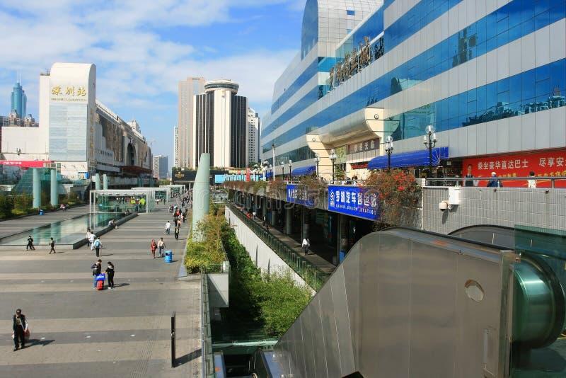 Shenzhen stacja kolejowa i Luohu stacja zdjęcia stock