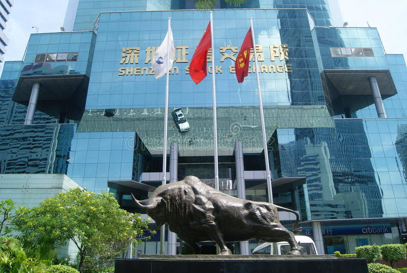 Shenzhen Stock Exchange royalty free stock photo