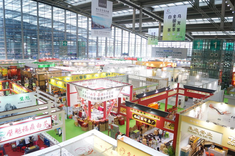 Shenzhen Tea Expo. Held in Shenzhen Convention and Exhibition Center, which is the scene of the landscape stock image