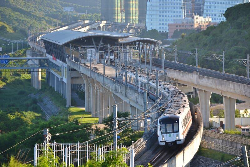Shenzhen tunnelbanadrev fotografering för bildbyråer
