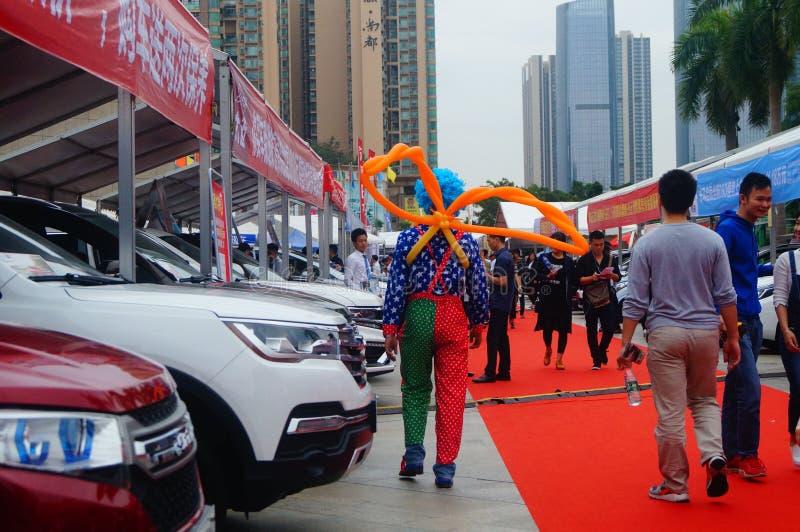 2017 shenzhen western international auto show. Weekend, Shenzhen Baoan sports center square, held in 2017 the fiftieth Shenzhen West International Auto show stock photography