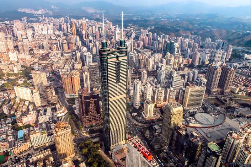 Shenzhen widok od Above obrazy stock