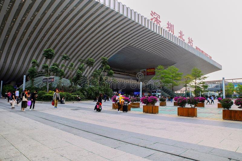 Shenzhenbei lub Shenzhen północna stacja kolejowa, porcelana zdjęcia royalty free