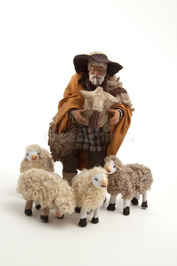 Download The Sheperd And His Sheep Of The Crib Stock Photo - Image: 17337082