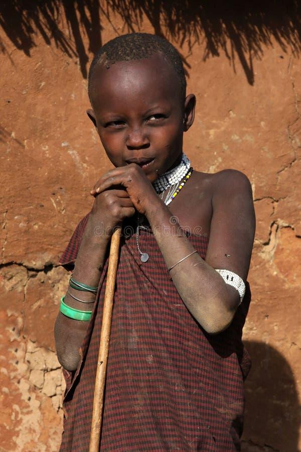 Sheperd joven del Masai foto de archivo libre de regalías