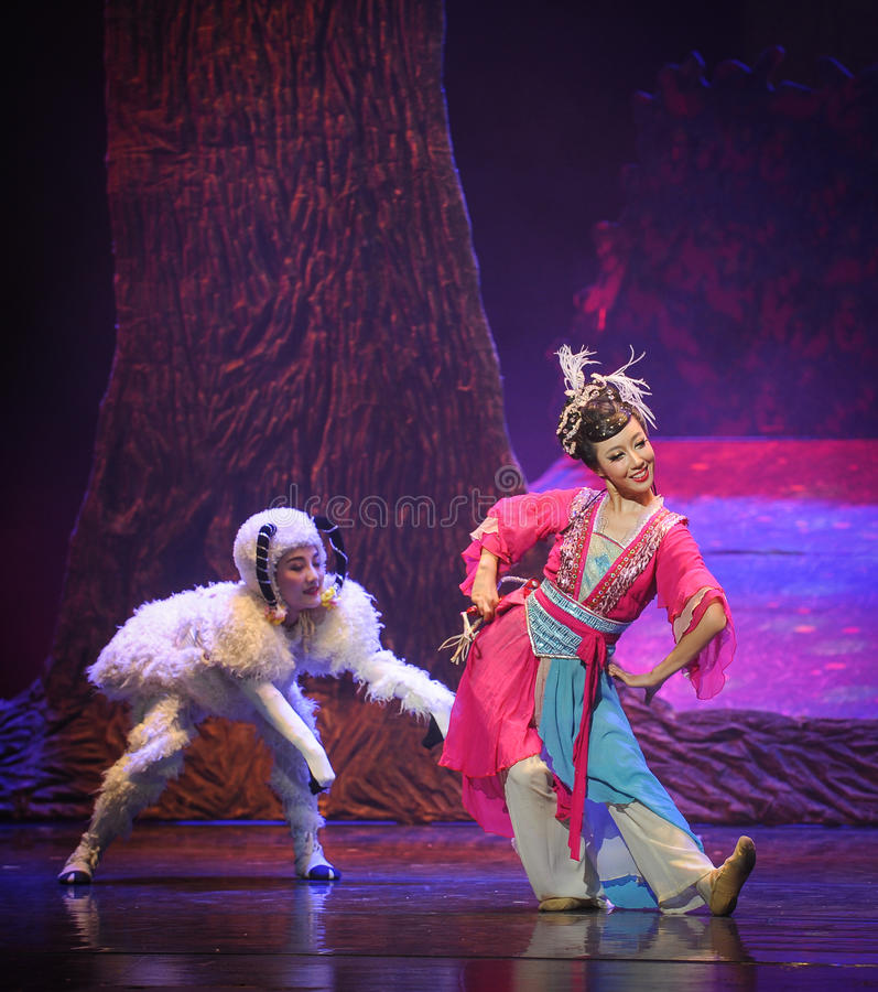 The shepherd-Hui ballet moon over Helan. Moon over Helan is the first large-scale original ballet Chinese Hui, Hui and historical culture as the background royalty free stock photos