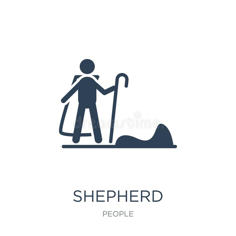 shepherd icon in trendy design style. shepherd icon isolated on white background. shepherd vector icon simple and modern flat stock illustration