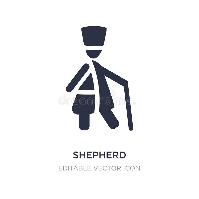 shepherd icon on white background. Simple element illustration from People concept stock illustration