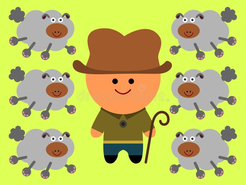 Download Shepherd stock illustration. Image of animals, sheep - 30450617