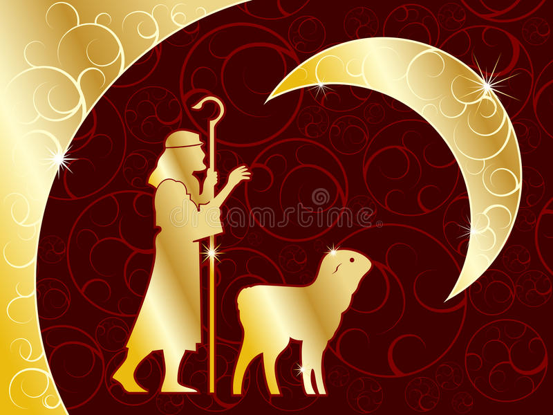 Download Shepherd and lamb stock vector. Illustration of religious - 16533091