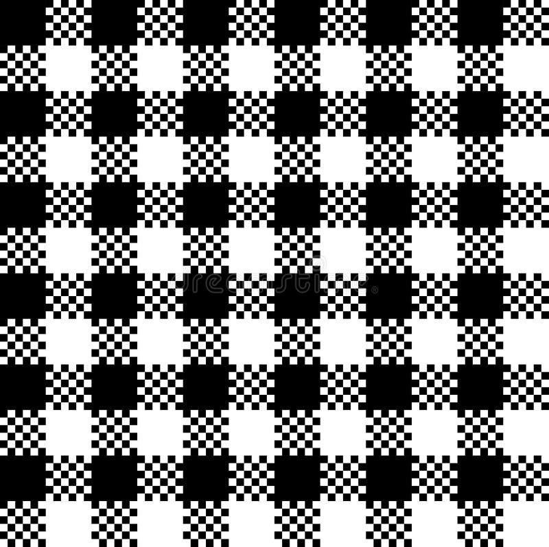 Shepherd pattern. Illustration black and white vector illustration