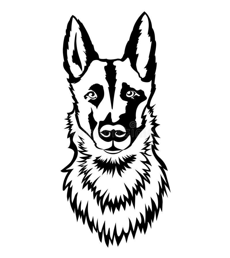 Shepherd Portrait vector illustration