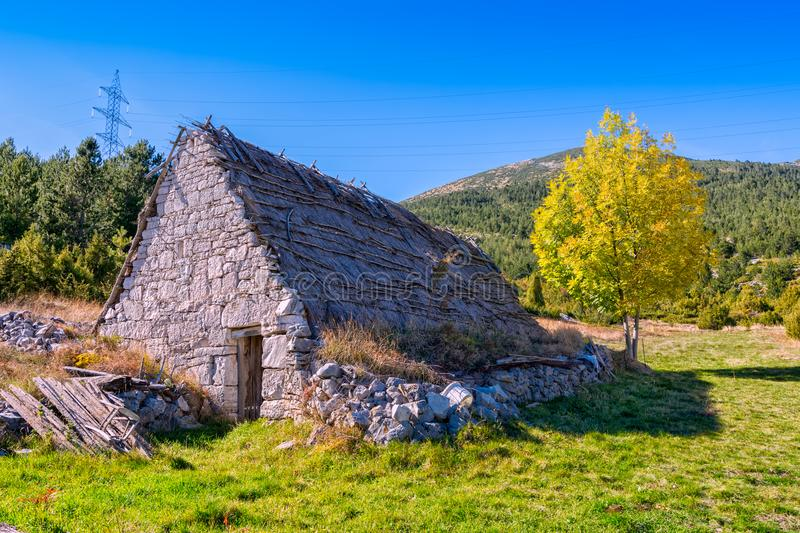 Shepherd`s houses in Bosnia royalty free stock images