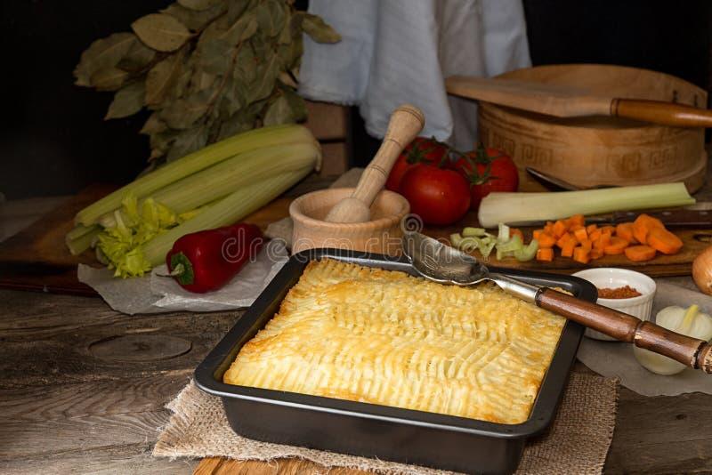 Download Shepherd`s Pie Traditional English Dish. Recipe With Minced Beef Stock Image - & Shepherd`s Pie Traditional English Dish. Recipe With Minced Beef ...