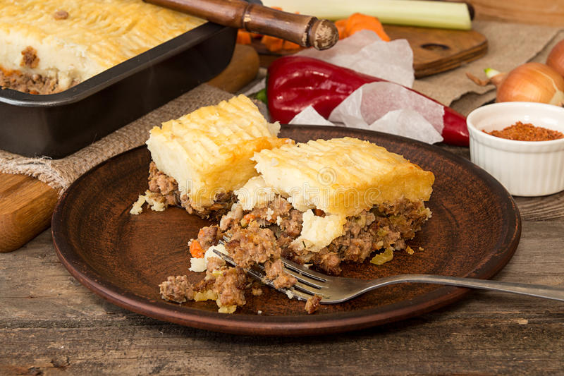 Download Shepherd`s Pie Traditional English Dish. Recipe With Minced Beef Stock Image - & Shepherd`s Pie Traditional English Dish. Recipe With Minced Beef ...