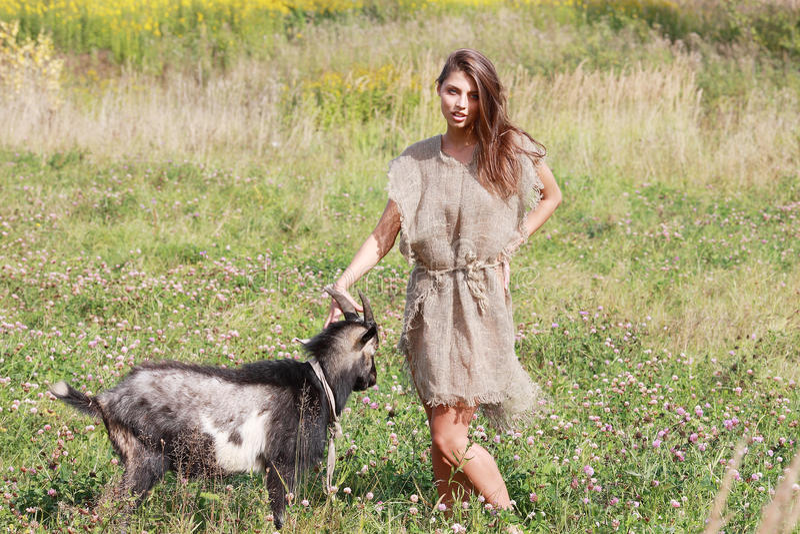 Shepherdess. immagini stock