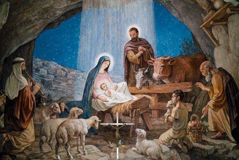 Shepherds часовня Вифлеем полей ` стоковые изображения rf