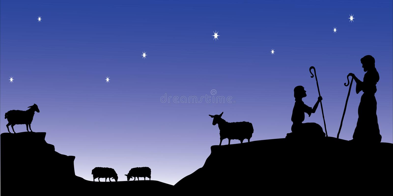 Shepherds Watch royalty free illustration