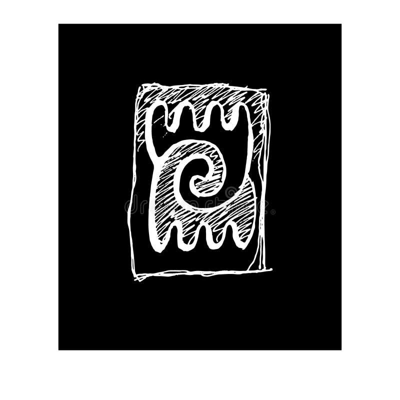 Shepps di disegno, Yin Yang, logo quadrato etnico illustrazione di stock