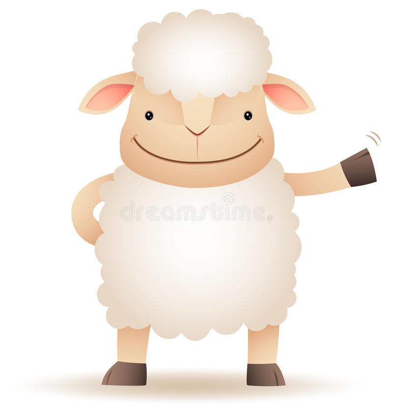 Download Shepy The Sheep Smile And Waving Stock Photo - Image: 24478730