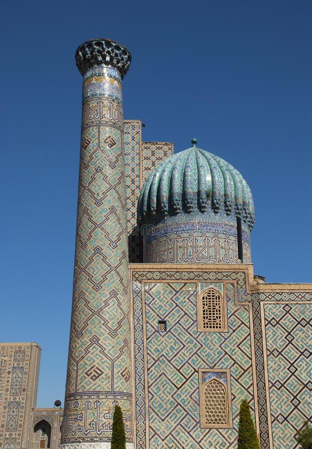 Sher-Dor Madrasah in Registan-Quadrat lizenzfreies stockbild