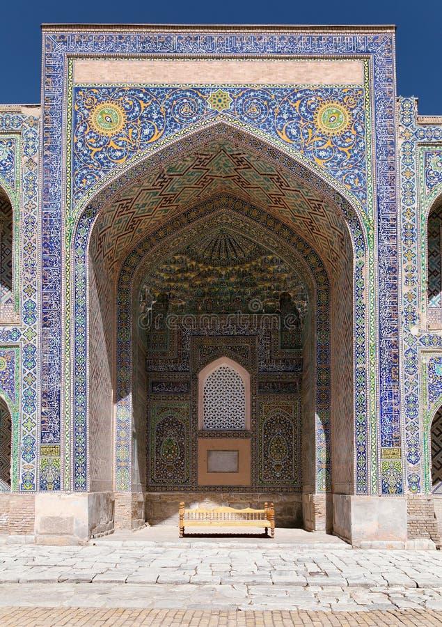 Sher Dor Medressa - Registan - Samarkand - Usbekistan lizenzfreies stockbild