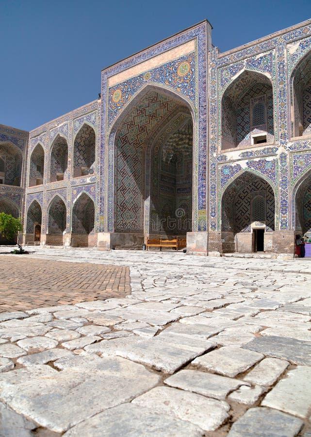 Sher Dor Medressa - Registan - Samarkand - Usbekistan stockbild