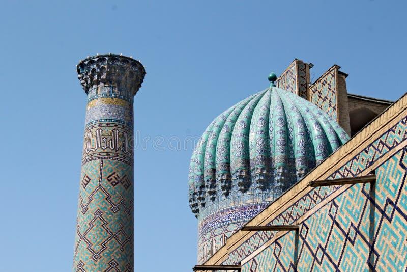 Sher Dor Medressa in Samarkand lizenzfreie stockfotografie