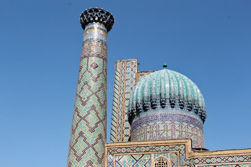 Sher Dor Medressa in Samarkand lizenzfreies stockfoto