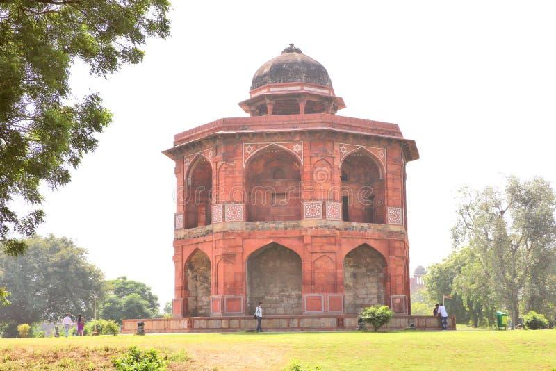 Sher Mandal обсерватория, восьмиугольная в форме стоковая фотография rf