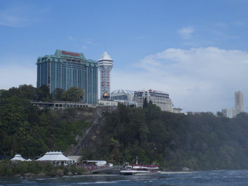 Sheraton en las caídas, Niagara Falls, Canadá foto de archivo