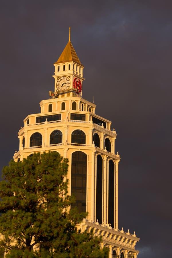 Sheraton. In golden light at sunset in Batumi stock image