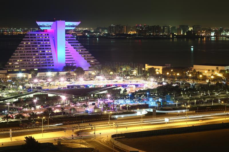 Sheraton Grand Doha Resort- und Versammlungshotel, Doha, Katar stockfoto