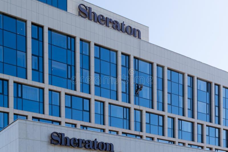 Sheraton Hotel in Oefa, Bashkortostan, Russische Federatie royalty-vrije stock afbeelding