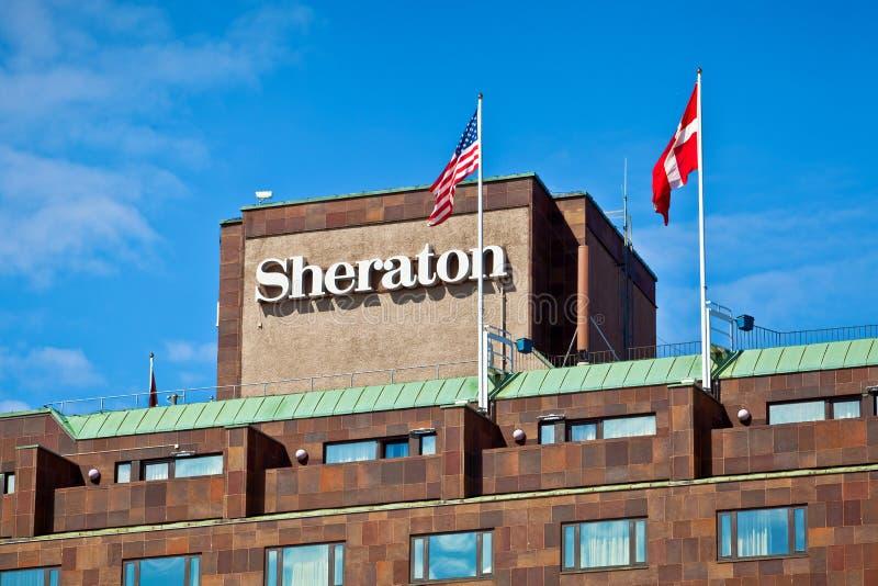 Sheraton hotel in Stockholm stock photos