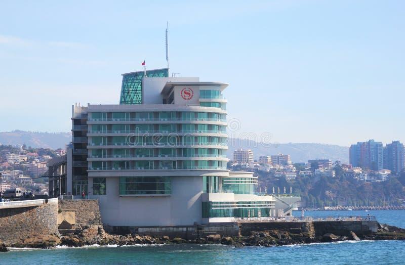 Sheraton Miramar Hotel e Convention Center in Vina Del Mar, Cile immagine stock libera da diritti