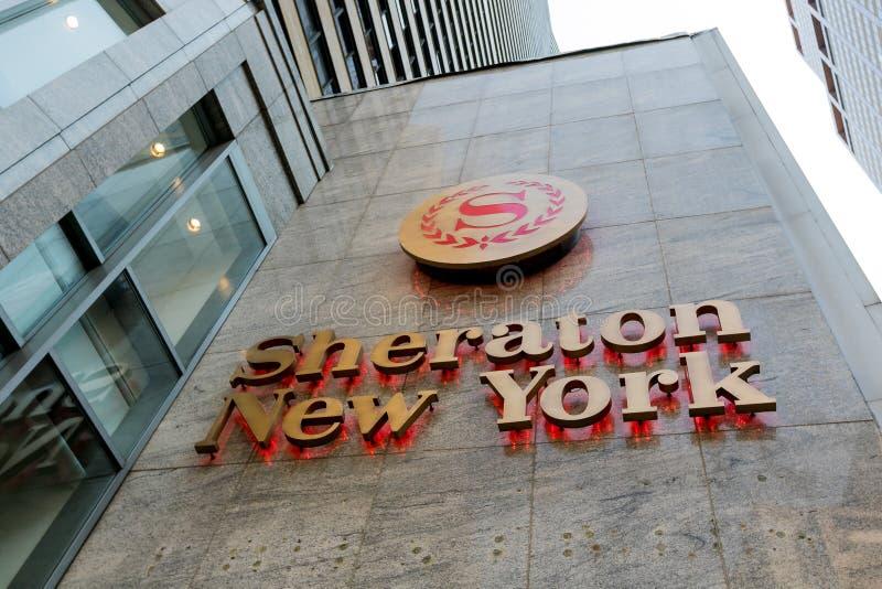 Sheraton New York imagen de archivo libre de regalías